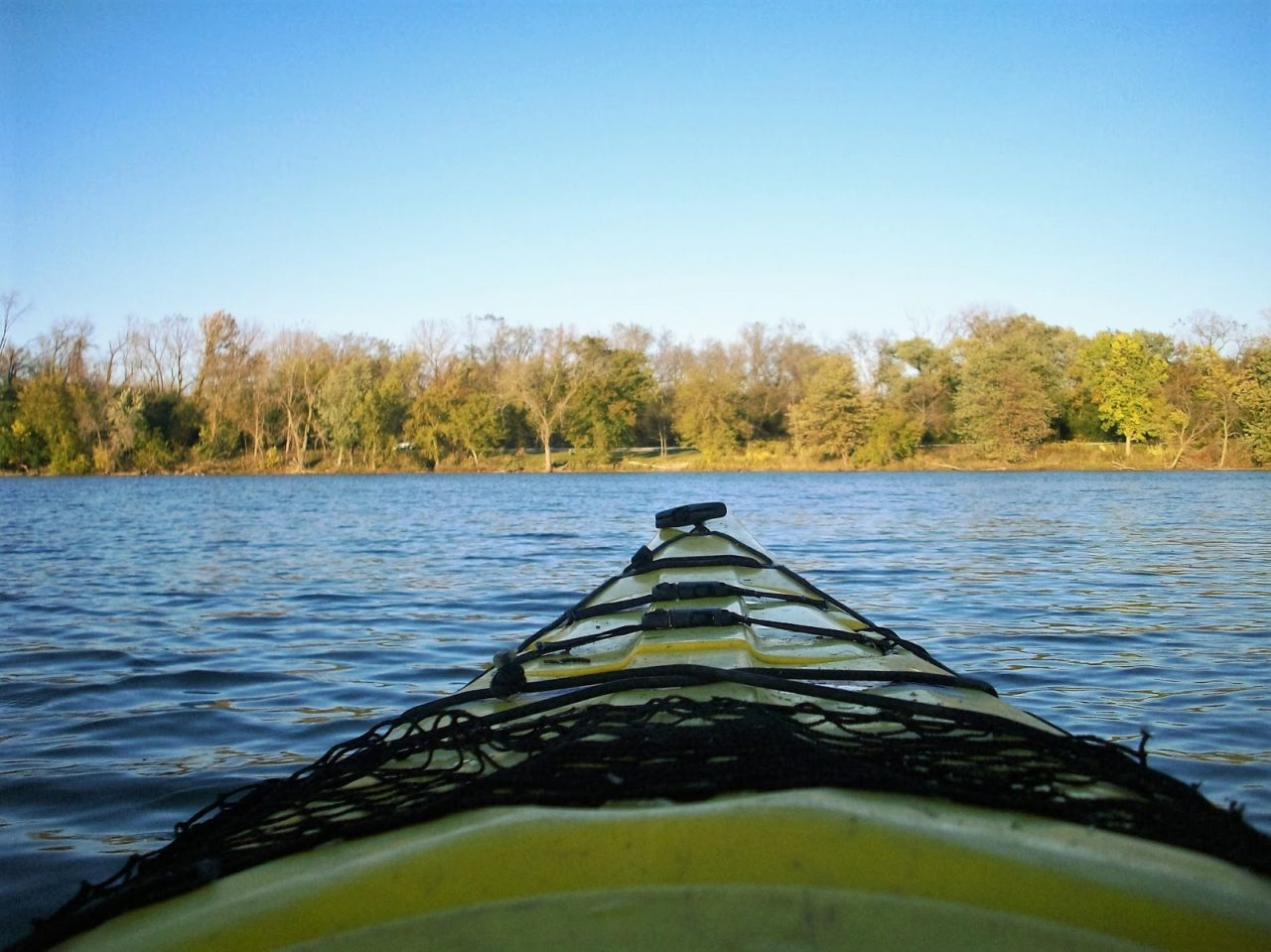 Kayak auf den Skokie Lagoons
