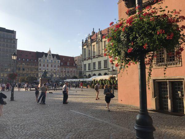 Eine Nacht in Wroclaw